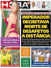 Capa do jornal Meia Hora 15/10/2021