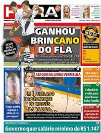 Capa do jornal Meia Hora 16/04/2021