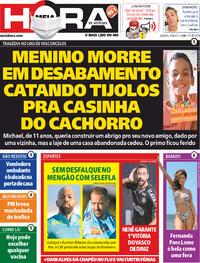 Capa do jornal Meia Hora 25/09/2021