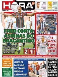 Capa do jornal Meia Hora 27/09/2021