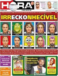 Capa do jornal Meia Hora 28/02/2021