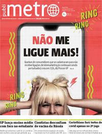 Capa do jornal Metro Jornal São Paulo 04/08/2020
