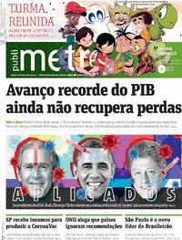 Capa do jornal Metro Jornal São Paulo 04/12/2020