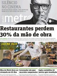 Capa do jornal Metro Jornal São Paulo 07/07/2020