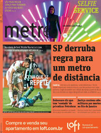Capa do jornal Metro Jornal São Paulo 15/10/2021