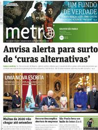 Capa do jornal Metro Jornal São Paulo 21/01/2021