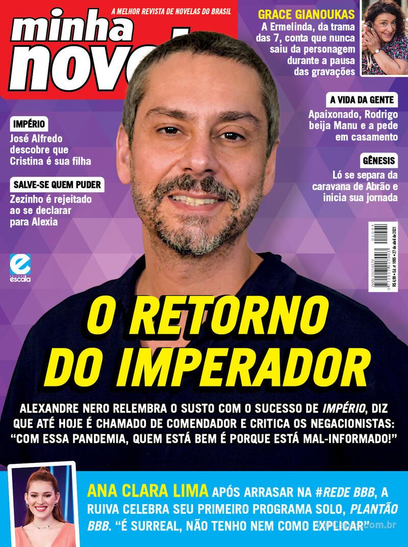 Capa da revista Minha Novela 13/04/2021
