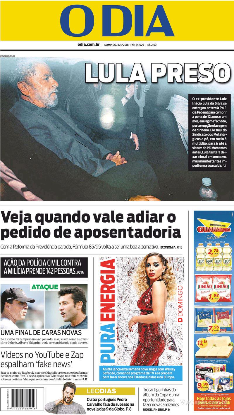 Capa O Dia 2018-04-08