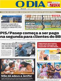 Capa O Dia 2019-02-16