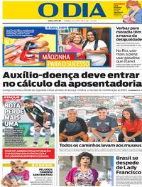 Capa Jornal O Dia 26/05/2019