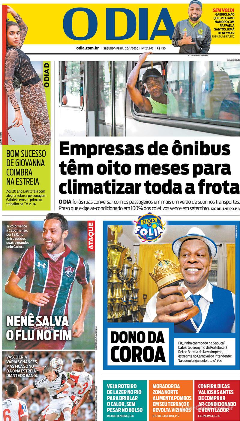 Capa jornal O Dia