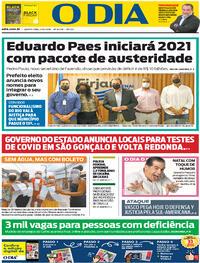 Capa do jornal O Dia 03/12/2020
