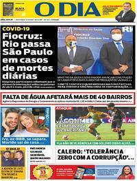Capa do jornal O Dia 04/12/2020