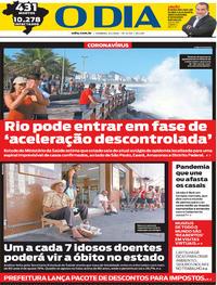 Capa do jornal O Dia 05/04/2020
