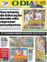 Capa do jornal O Dia 22/10/2020