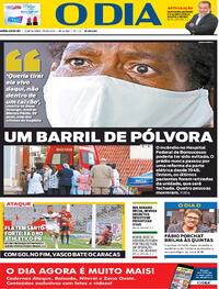 Capa do jornal O Dia 29/10/2020