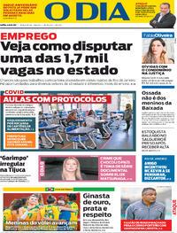 Capa do jornal O Dia 03/08/2021