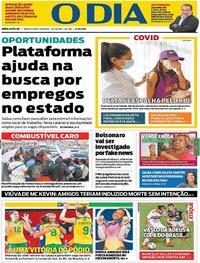 Capa do jornal O Dia 05/08/2021
