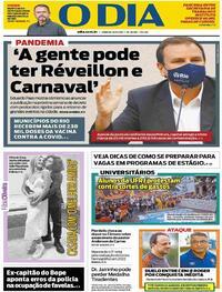 Capa do jornal O Dia 15/05/2021
