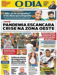 Capa do jornal O Dia 16/04/2021
