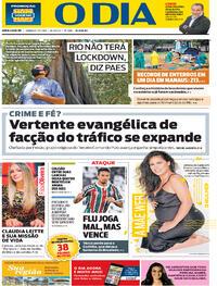 Capa do jornal O Dia 17/01/2021