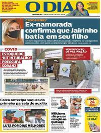 Capa do jornal O Dia 17/04/2021