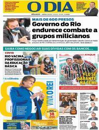 Capa do jornal O Dia 18/04/2021
