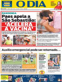 Capa do jornal O Dia 21/01/2021