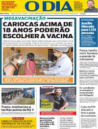 Capa do jornal O Dia 25/09/2021