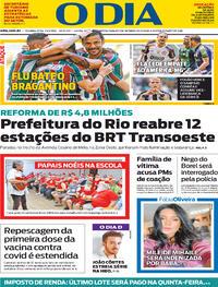 Capa do jornal O Dia 27/09/2021
