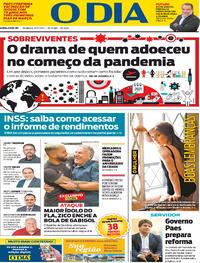 Capa do jornal O Dia 28/02/2021