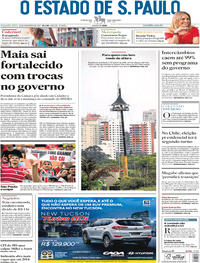 Capa O Estado de Sao Paulo 2017-11-20
