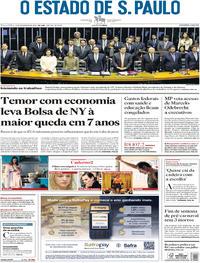 Capa O Estado de Sao Paulo 2018-02-06