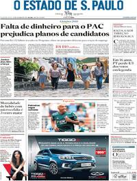 Capa O Estado de Sao Paulo 2018-10-15