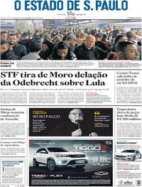 Capa O Estado de Sao Paulo 2018-04-25
