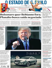 Capa O Estado de Sao Paulo 2019-02-16