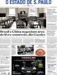 Capa O Estado de Sao Paulo 2019-11-14