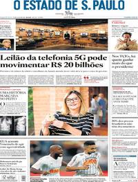 Capa Jornal O Estado de Sao Paulo