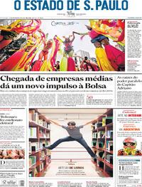 Capa O Estado de Sao Paulo 2020-02-23
