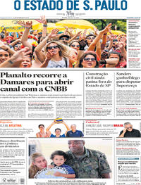 Capa O Estado de Sao Paulo 2020-02-24