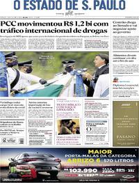 Capa do jornal O Estado de Sao Paulo 24/10/2020