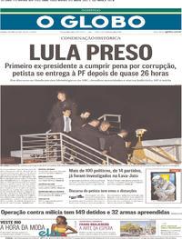 O Globo - 08-04-2018