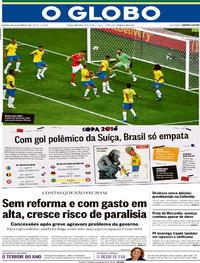 Capa O Globo 2018-06-18