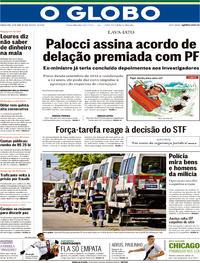 Capa O Globo 2018-04-26