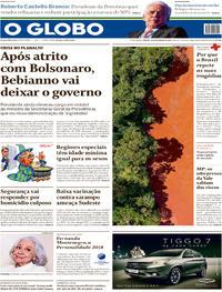 Capa O Globo 2019-02-16
