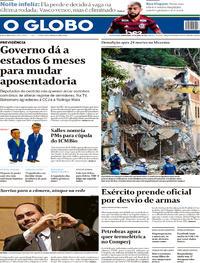 Capa O Globo 2019-04-25
