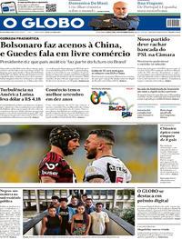 Capa O Globo 2019-11-14