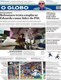 Capa O Globo 2019-10-17