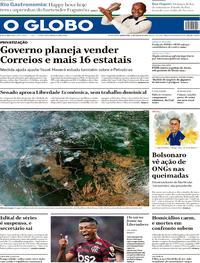 Capa O Globo 2019-08-22