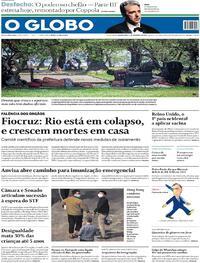 Capa do jornal O Globo 03/12/2020